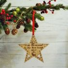 First 1st Christmas in Our New Home Star Decoration Housewarming Gift Keepsake